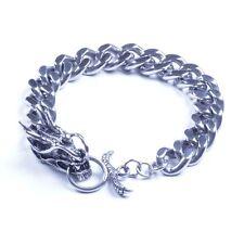 Men's Stainless Steel Biker Dragon Bracelet SL19 USA Seller