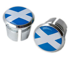 Scottish Flag Bicycle Handlebar Chrome Plastic Bar End Plugs, Caps L'Eroica