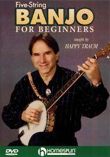 Five-String Banjo for Beginners DVD Instructional Folk Instrmt DVD NEW 000641789