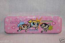 NEW POWERPUFF GIRLS PENCIL CASE PINK WITH TRAY INSIDE