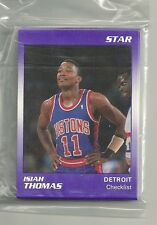 Isiah Thomas 1991 Star Company Detroit Pistons 11-card Basketball Set