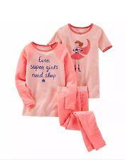 OshKosh Toddler Girls 3-Piece Snug Fit Cotton PJs Set MSRP$32 size 5T NWT