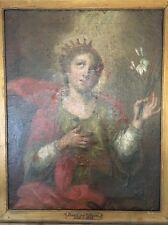 Antique 18th Century Baroque Oil Painting Canvas Portrait of Lady 38 x 31~Offers