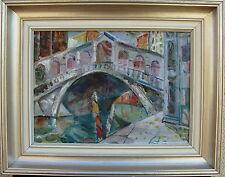 Jules Schyl 1893-1977, Rialtobrücke in Venedig, verso datiert 1964-66