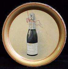 Ca. 1910 White Top Champagne Advertising Tip Tray from Hammondsport, NY