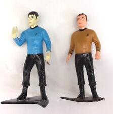"""1991 Star Trek Kirk & Spock 4"""" Tall PVC Figure Set from Presents- Mint in Bag"""