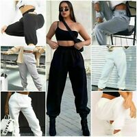 Womens Cuffed Joggers Sweatpants Ladies Bottoms Jogging Gym Pants Lounge Wear UK