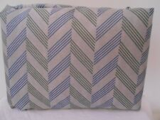 Best Home Collection Queen size  Sheet Set Chevron Stripe Gray Blue Green