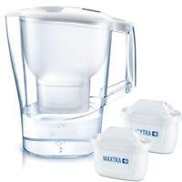 BRITA Aluna MAXTRA+ Plus 2.4L Water Filter Fridge Jug with 2 x Cartridges, White