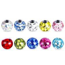 3MM FERIDO PIERCING BALL REPLACEMENT CRYSTAL GEM EPOXY HELIX TRAGUS SPARE 1,2MM