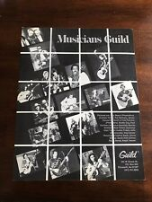 1983 VINTAGE 8.5X11 PRINT Ad GUILD GUITARS NEAL SCHON,GRAHAM PARKER,PAT METHENY+