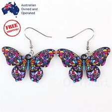 Newest Acrylic Butterfly Colorful Drop Dangle Hook Earring Women Girls Hot Gift