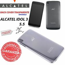 CUSTODIA BACK COVER CASE TRASPARENTE ORIGINALE ALCATEL per ONE TOUCH IDOL 3 5.5""