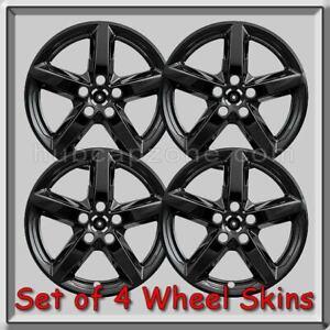 "Black Ford Explorer Wheel Skins 18"" 2017-2018 Hubcaps Black Wheel Covers"