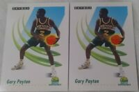 1991-92 Skybox Gary Payton #274 Seattle Supersonics Lot Of 2 Free Shipping