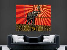 Obey shepard fairey éléphants INCASE Poster Art Photo Impression Grand énorme