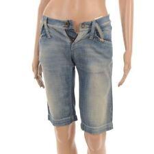 Cotton Faded Plus Size Capri, Cropped Jeans for Women