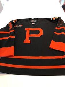 Game Worn Used Princeton Tigers Hockey Jersey Size 52 #39