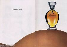PUBLICITE ADVERTISING 095 1976 Femme de Rochas parfum (2 pages)