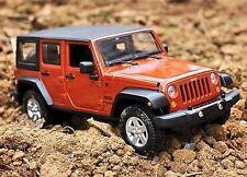 Maisto 1:24 2015 Jeep Wrangler Unlimited Diecast Metal Model Car New Orange