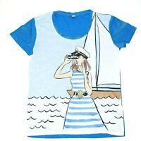 Moschino Swim Nautical Velmar Spa T-Shirt Womens US Large