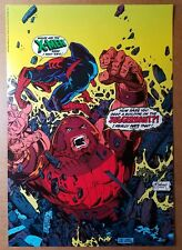 Spider-Man Vs Juggernaut Marvel Comics Poster by Todd McFarlane