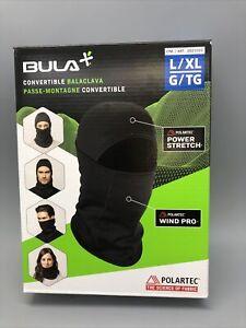 Bula Primaloft Convertible Balaclava Face Mask -Black- Size L/XL New Open Box