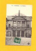 CAMBRAI (59) Façade du THEATRE / TIRE AU FLANC à l'AFFICHE en 1908