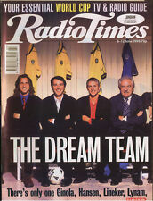 RADIO TIMES 6/98 - World Cup 98, Kirsty Young, Noah Wyle, Gary Lineker