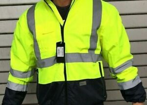 Berufsjacke Sicherheit,Ultrasp,Signalgelb,workwear,mens warning bomber jacke XL