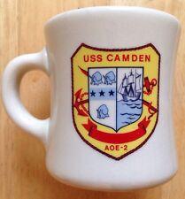 USS CAMDEN AOE-2 U. S. NAVY COFFEE MUG, NEW OLD STOCK, NOS