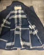 Authentic Burberry Brit  Blue Kensington Mid Trench Coat M