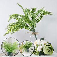 7 Branches Artificial Plant Sword Fern Flower Plastic Fern Bush Ferns Home Decor