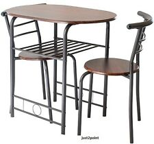 Small Kitchen Table Chairs Set Dining Bistro Breakfast Space Saver Furniture