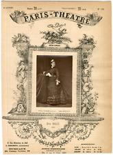 Lemercier et Cie, Paris-Théâtre, Zina Dalti, chanteuse Vintage Albumen Print T