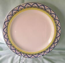 Homer Laughlin Chop Plate Round Platter Monte Carlo 8062 White Yellow Blue Green