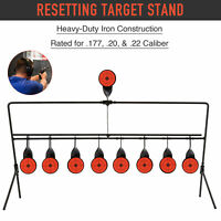 Auto Reset Shooting Targets w Portable Design Rated for.177 .20 .22 Caliber