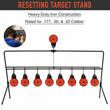New listing Auto Reset Shooting Targets w Portable Design Rated for.177 .20 .22 Caliber