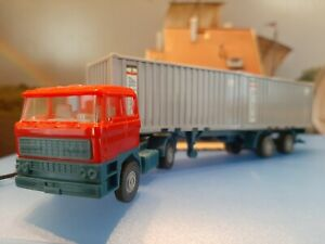 """Voiture miniature ho - WIKING - Semi-Remorque - DAF - Double Container """"ALIANCA"""""""