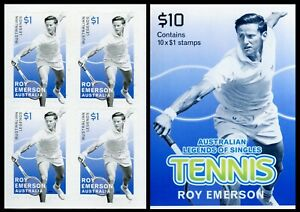 2016 Australian Legends of Tennis - Roy Emerson Booklet Block of 4 Stamps
