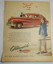 LOT OF SIX 1947 OLDSMOBILE COLOR ADVERTISMENTS 10X13 WOULD BE NICE FRAMED