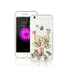 Eule Baum Silikon Hülle - Apple iPhone  7 PLUS Handy Backcover Diamant Tasche 17
