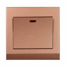 Simplicity Bronze Screwless 20A DP Switch with Neon 07264