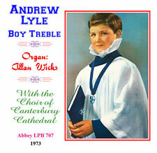 Andrew Lyle Boy Soprano/Treble Canterbury Cathedral Choir 1973