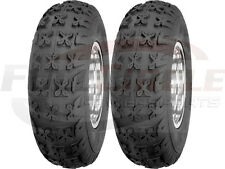 Front ATV Tire Set Pair 4 Ply 21X7-10 Sedona Bazooka Sport Quad Tires 21x7x10