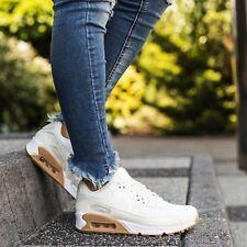 Nike Air Max 90 PREM Wmn Sz 8.5 896497-100 SAIL/SAIL-GUM LIGHT BROWN Retro Shoes