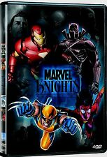 NEW 4DVD - MARVEL KNIGHTS - IRON MAN   + BLACK PANTHE  + X-MEN + SPIDER WOMAN