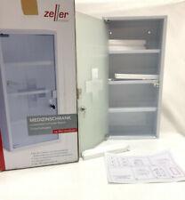 Zeller 18122 Medizinschrank, Metall, weiß, 30 x 12 x 60 cm