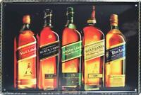 Johnnie Walker Whiskey Metal Tin Sign