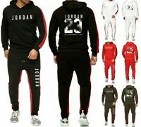 Mens Michael Air Legend 23 Jordan Tracksuit Hoodie & Pants Men Brand Sportswear